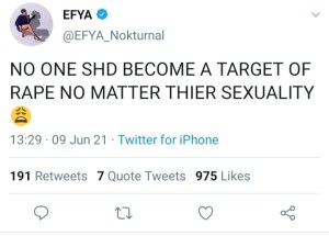 Let's Castrate Rapists – Efya Demands Justice For Lesbian Who Was Gang-Raped For 2Days