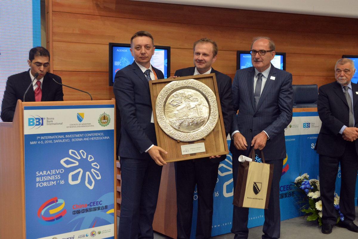 Sa Prošlogodišnje Svečane Ceremonije Dodjele Nagrada: Rusmir Hrvić, Amer Bukvić I Nijaz Hastor