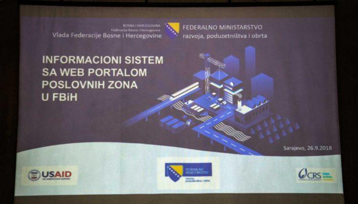 Predstavljen Informacioni Sistem S Web Portalom Poslovnih Zona U FBiH