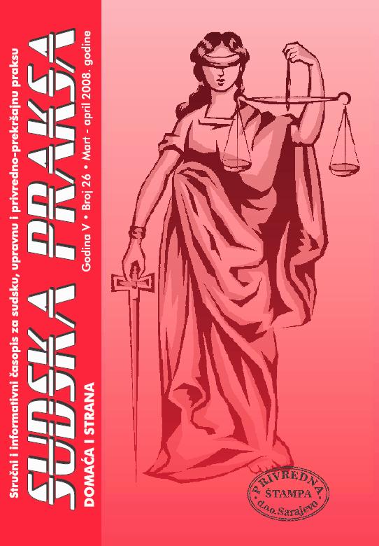 sudska praksa 26
