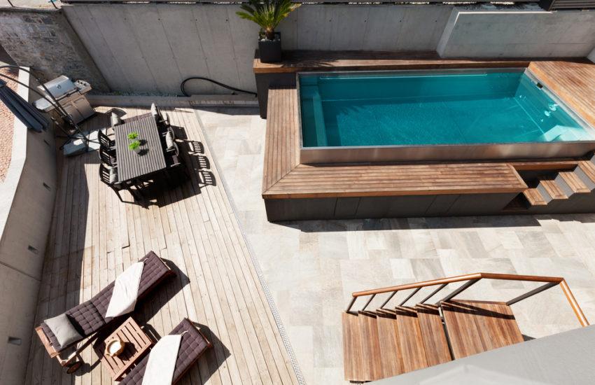 piscine semi enterree une alternative
