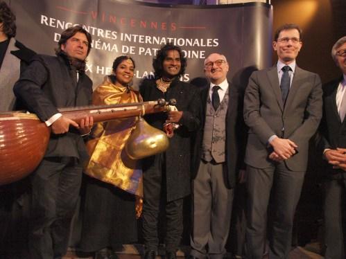 Laurent Lafon, Frédéric Vidal, Raghunath Manet et son équipe