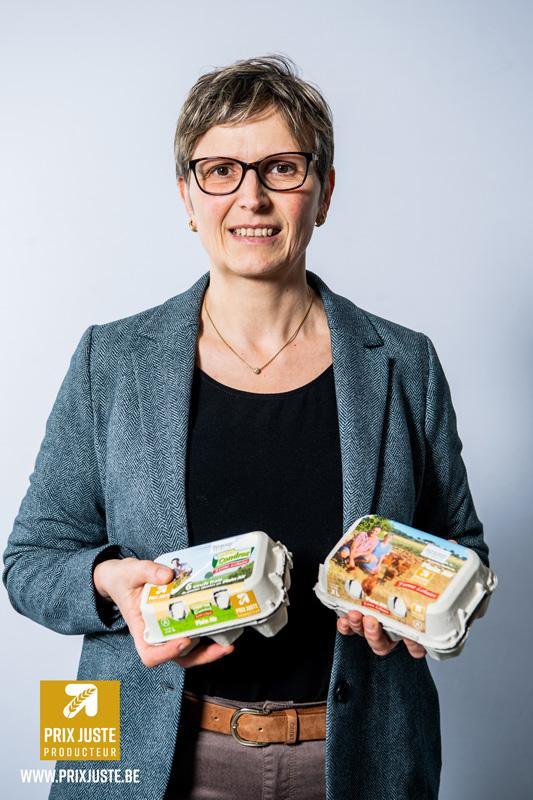 Dominique Lehaire, éleveuse de poules pondeuses