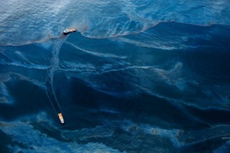 Oil Spill #6: Oil covers the surface of the Gulf of Mexico in the vicinity of BP's Deepwater Horizon spill source.
