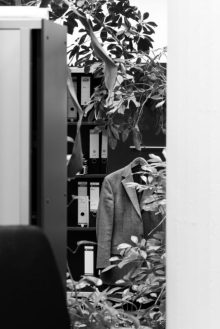 SASKIA GRONEBERG__Overgrown suit jacket and filing cabinet_H70 L50