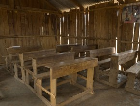 Classroom interior, Daaba Primary School (Turkana tribe), Nakuprat-Gotu Community Conservancy
