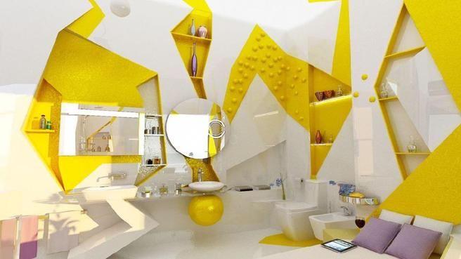 salle de bains jaunes 32 idees pour