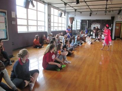 Bollywood workshop in Raleigh school