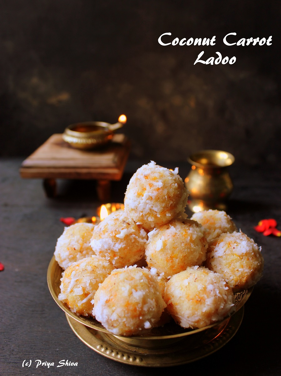 Coconut Carrot Ladoo Recipe