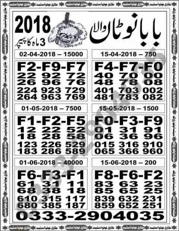 Baba Notaan wala 200 2018