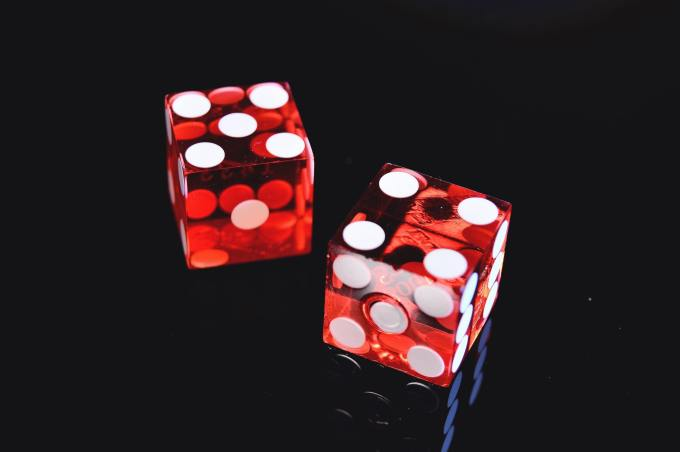 Dice universal symbol of luck and chance