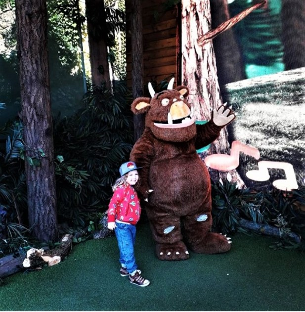 My son meeting the Gruffalo
