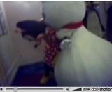 Minnie et bonhomme de neige