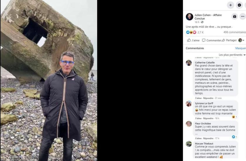 Julien Cohen passe «une après-midi de merde» en baie de Somme