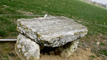 The Druid's tomb, also called the Rouville cross.  (Photo PN)