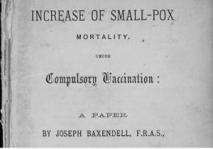 Joseph Baxendell Increase of smallpox mortality under compulsory vaccination