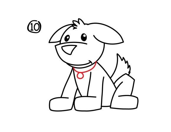 11. Как нарисовать собаку в мультяшном стиле