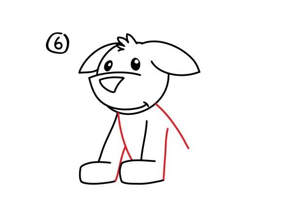 07. Как нарисовать собаку в мультяшном стиле