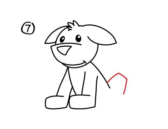 08. Как нарисовать собаку в мультяшном стиле