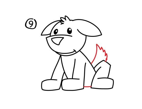 10. Как нарисовать собаку в мультяшном стиле
