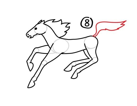 09. Как нарисовать лошадь