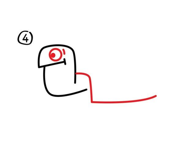 05. Как нарисовать черепаху в мультяшном стиле