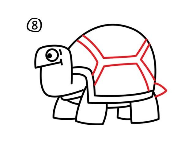 09. Как нарисовать черепаху в мультяшном стиле