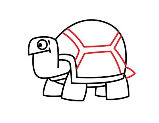 10. Как нарисовать черепаху в мультяшном стиле