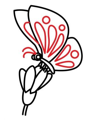 01. Как нарисовать бабочку на цветке?