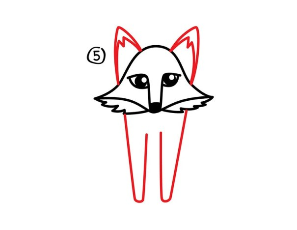 06. Как нарисовать лису в мультяшном стиле