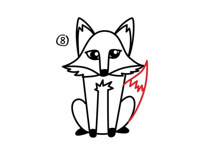 09. Как нарисовать лису в мультяшном стиле