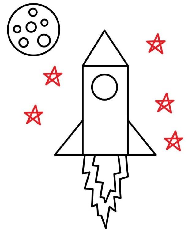 01. Как нарисовать ракету