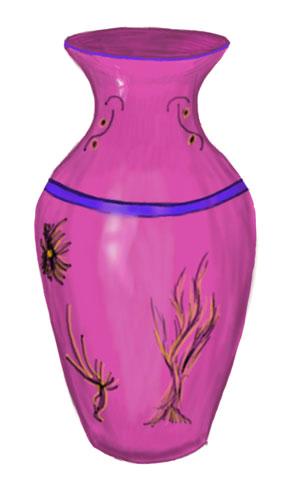 Dekakty s vázy tužky