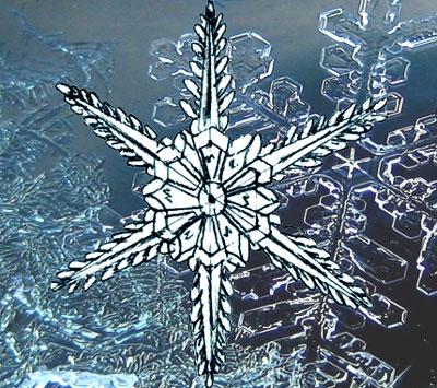 Рисуем Снежинку поэтапно