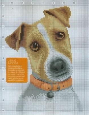 Как нарисовать собаку по клеточкам?