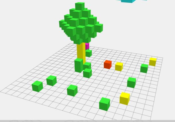 3D конструктор онлайн по кубикам