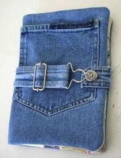 Обложка для дневника из джинс