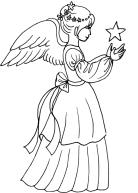 Раскрасски для детей - ангелочки и ангелв распечатать в хорошем качестве3