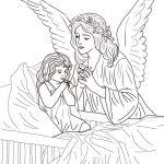 Раскраски  Ангелы.