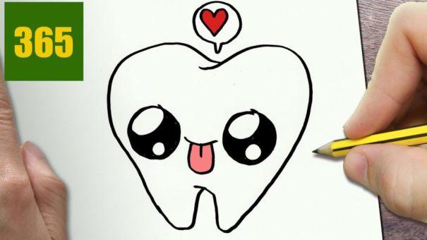 Сквиши зуб для срисовки