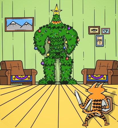 Bagaimana kucing melihat dirinya sendiri dan pohonnya