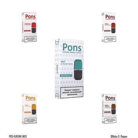 Картриджи Pons с солевым никотином, сильная крепость 5%, 59мг