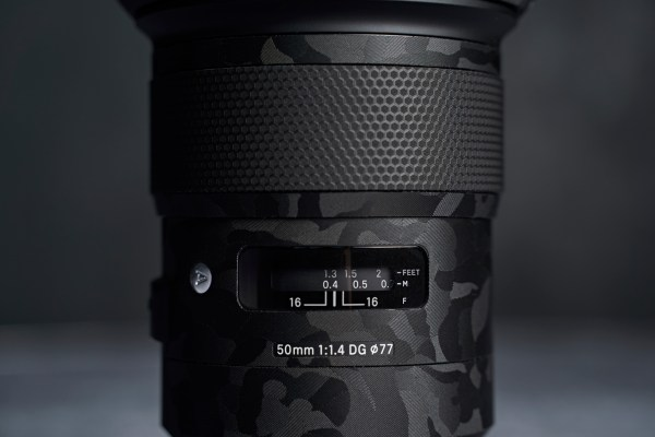 Sigma 50mm f/1.4 DG HSM Art Lens for Sony E - Protective Lens Guard Wrap Shadow Camouflage Skin