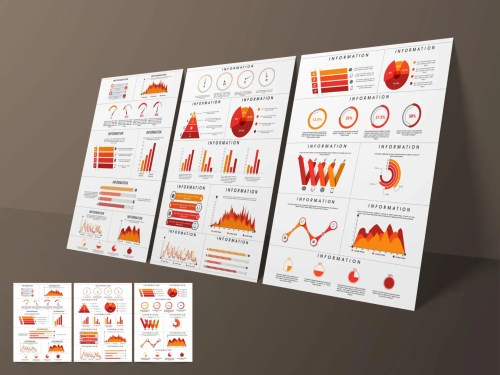 Business infographic template or brochure set.