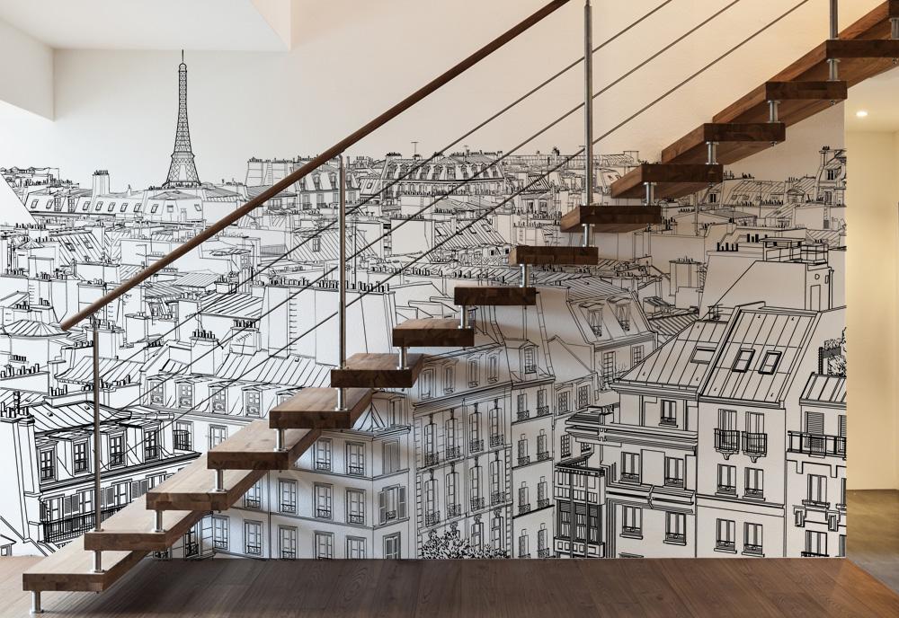 Papier peint - Vue sur Paris