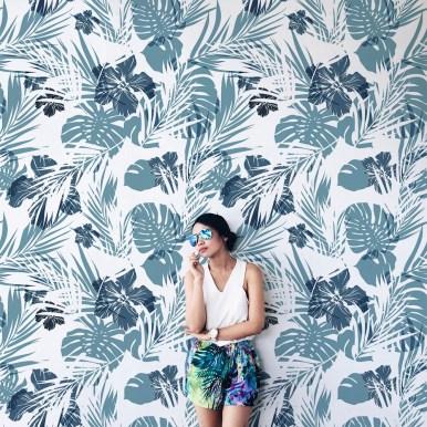 Papiers peints Extérieur Fleurs tropicales