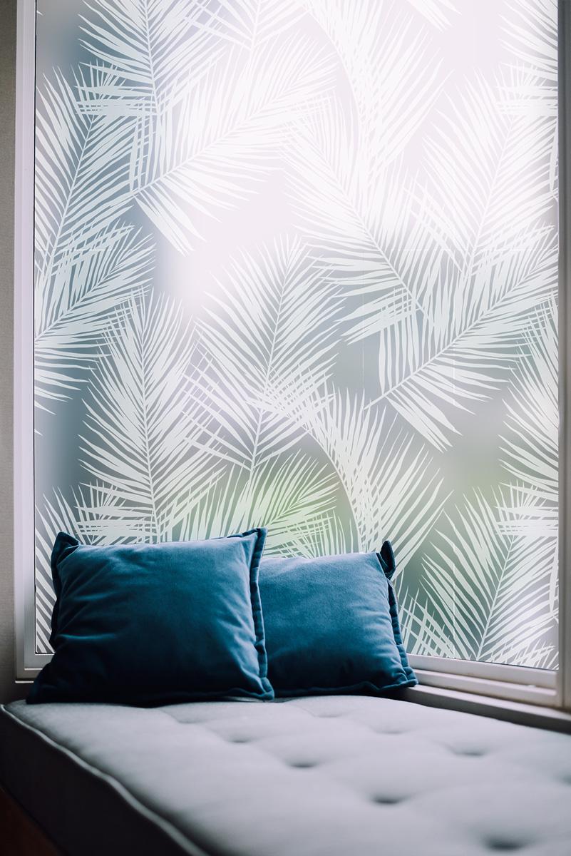 Films dépolis Feuilles de palmier