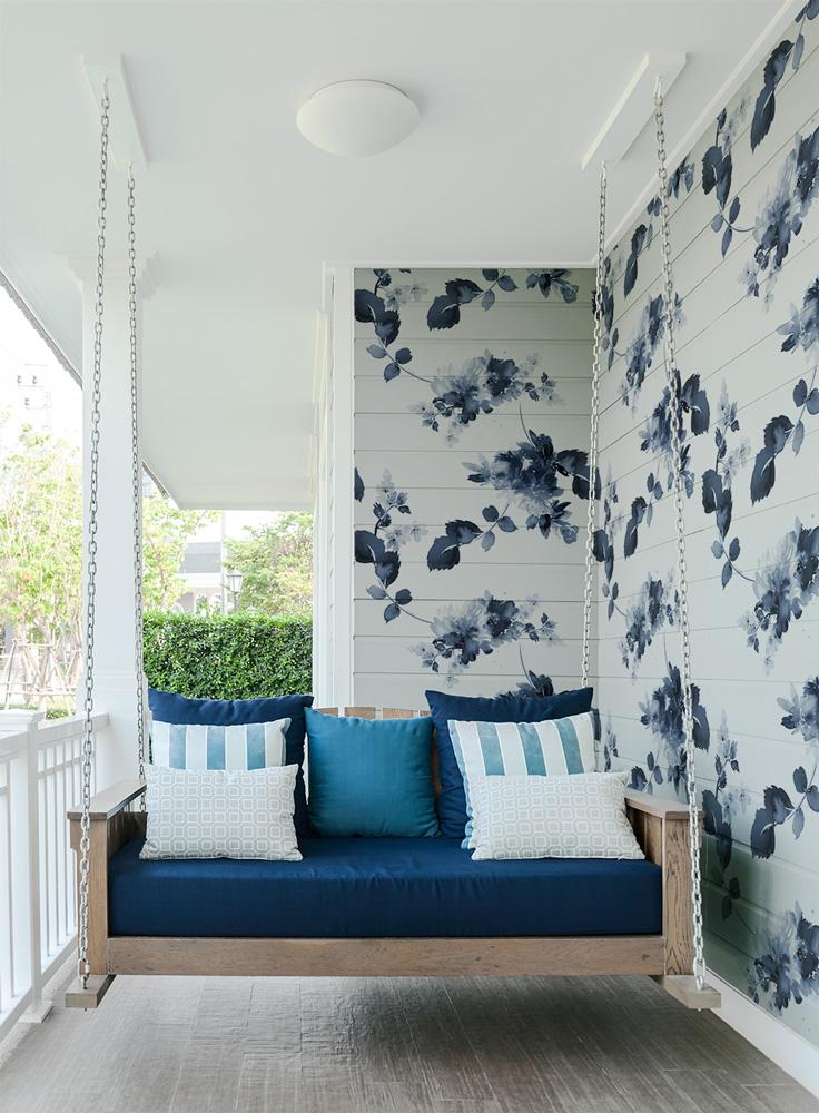 Papiers peints Extérieur Blue flowers 2