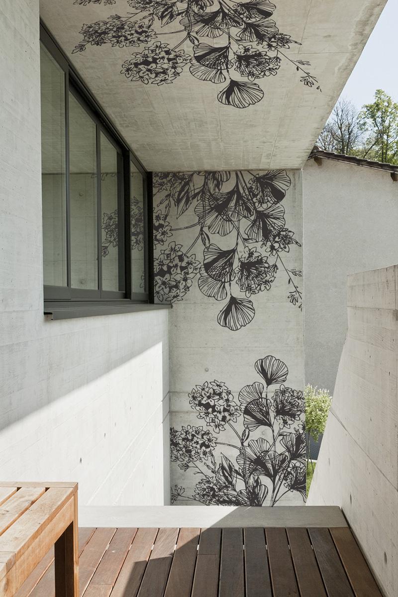 Décors muraux en adhésif extérieur