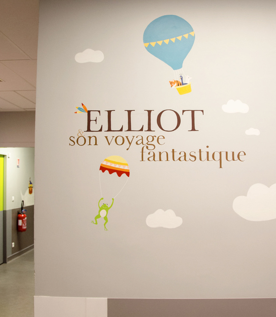 Illustration Juliette Gillard pour l'Hôpital Necker, financé par la Fondation CSF